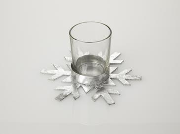 Snowy Свещник 14x12,5x7 См Сребристо