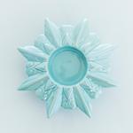 Snowflake Stoneware Mumluk 12x12x3,5 Cm Mavi
