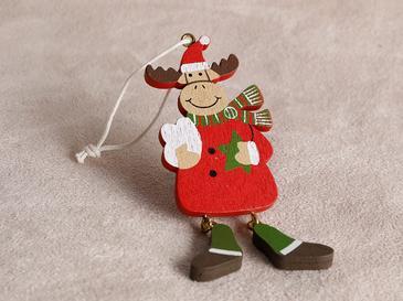 Reindeer Висяща Декорация 3,5x9 Cм Червено