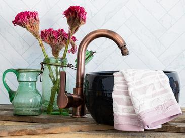 Floral Rose Хавлия за Ръце 30x45 См Лилаво