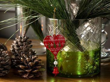 Happy Winter Висяща Декорация  4,5x8 Cм Червено