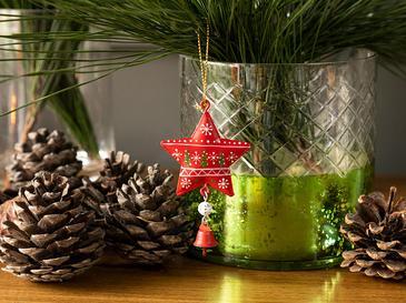 Happy Winter Висяща Декорация 5x8,5 Cм Червено