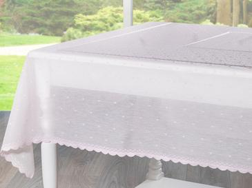 Linen Покривка за Маса 150x180 См Светлорозово