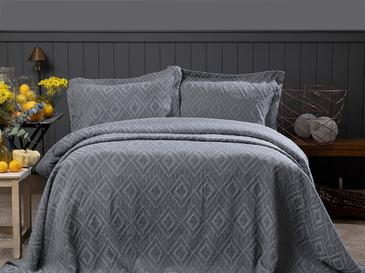 Diamond Chic Комплект Покривало за Легло Двоен Размер 240x250 См Антрацит