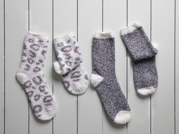 Leo Дамски Чорапи 2 Чифта 39-41 Сиво