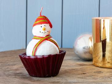 Cupcake Свещ 7,2x7,2x10 См Червено