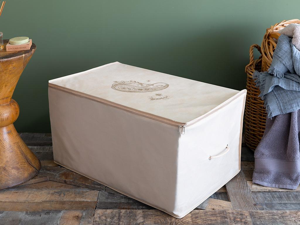 Paisley Storage Bag 64x41x35 Cm Beige
