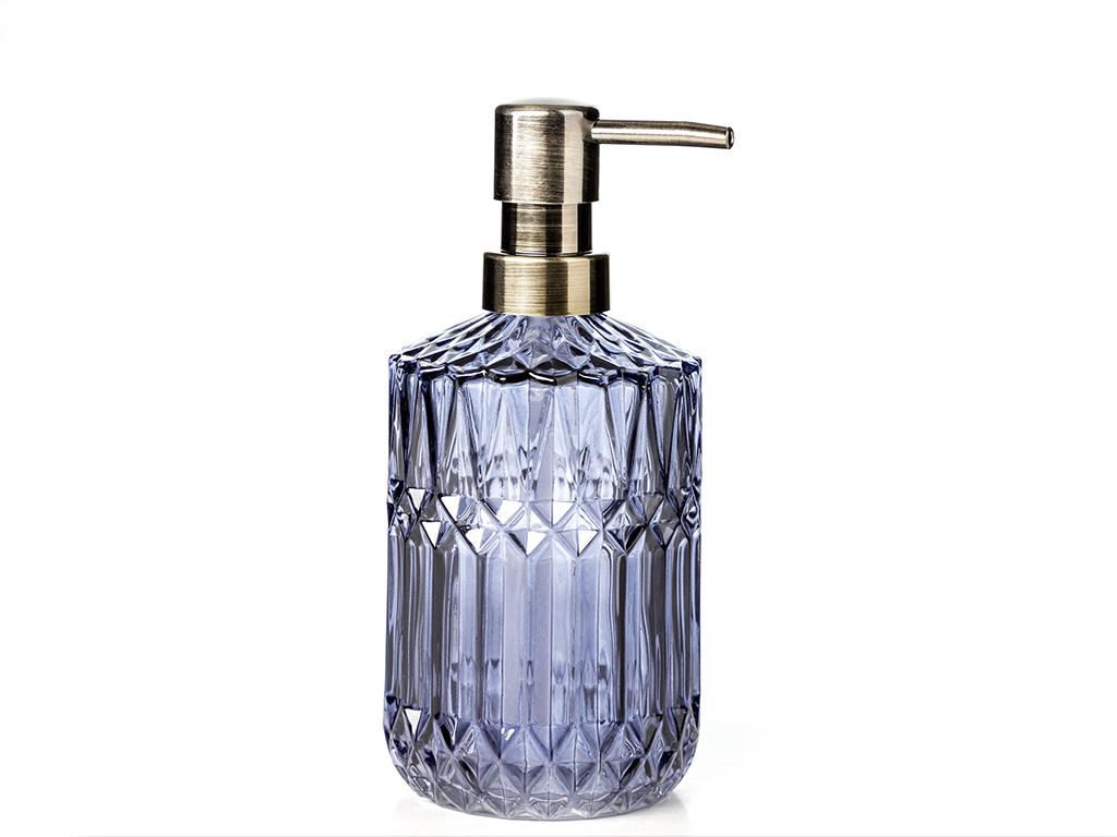 Eldora Cam Banyo Sıvı Sabunluk 9x9x17,5 Cm Lacivert