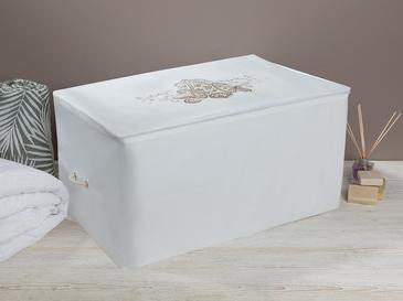 Lace Damask Калъф за Съхранение 74x46x46 См Бяло