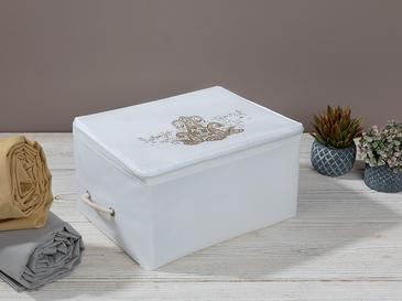 Lace Damask Калъф за Съхранение 30x22x18 См Бяло