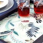 Pureness Decorative Glass Tray 31x46 Cm Navy Blue