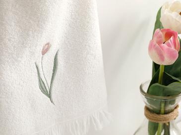 Tulip Garden Хавлия за Ръце 30x40 См Екрю