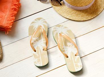 Palm Дамски Чехли за Плаж 36 Бежово