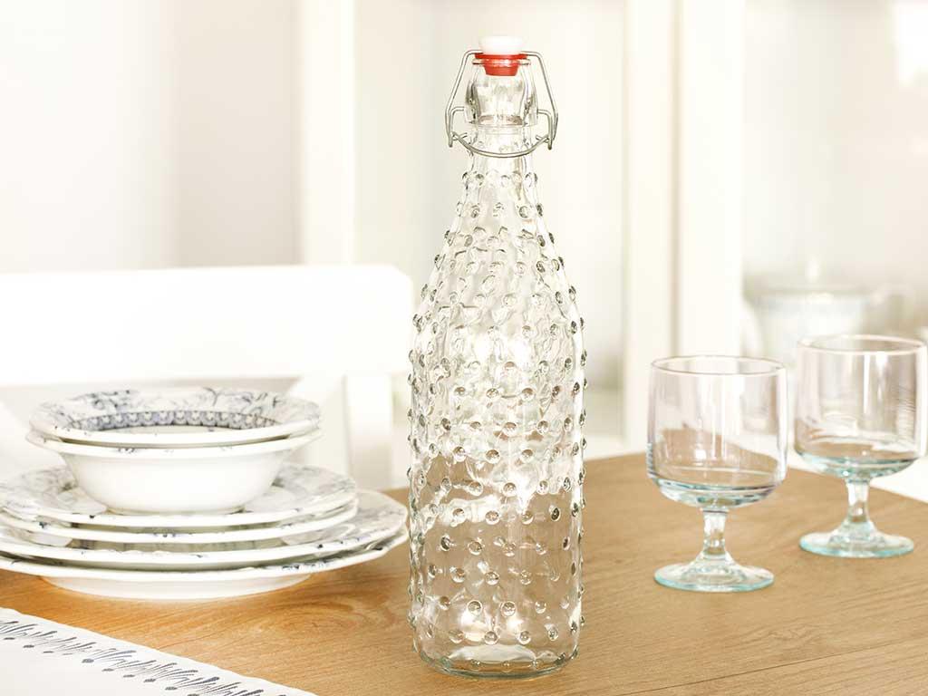 Rosalie Glass Bottle 1100 Ml Transparent