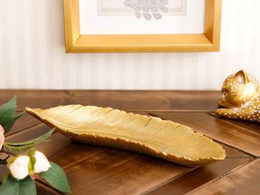 Leafy Декоративна Чиния 25,3x8,8x4,4 См Златисто