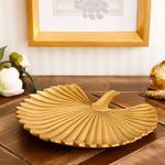 Pure Elegance Decorative Plate 22,3X20,8X2,8 Cm Gold