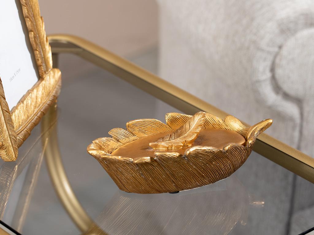 Pure Fleur Decorative Box 17x8x5,3 Cm Gold