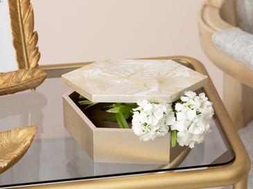 Linear Декоративна Кутия 15x17x5,5 См Кремаво