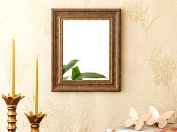 Etnich Огледало 25x30 См Кафяво