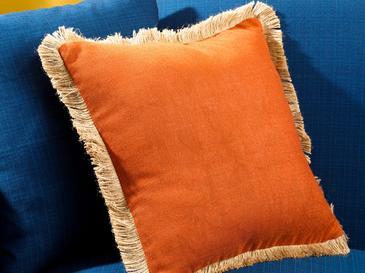 Shabby Декоративна Калъфка за Възглавница 45x45 См Портокал