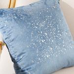 Shiny Velvet Cushion Cover 45x45 Cm Blue