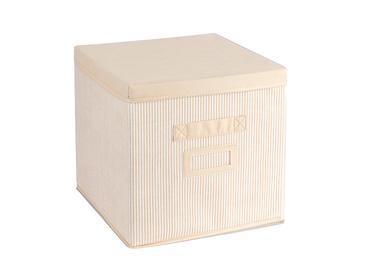 Royal Stripe Кутия за Съхранение Полипропилен 30x30x30 См Бежово