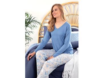 Paisley Charm Дамска Пижама Комплект M Синьо