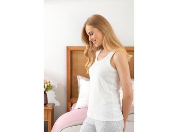 Plain Пижама Горнище L Бяло