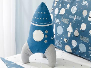 Space Декоративна Възглавничка 36x19 См Синьо