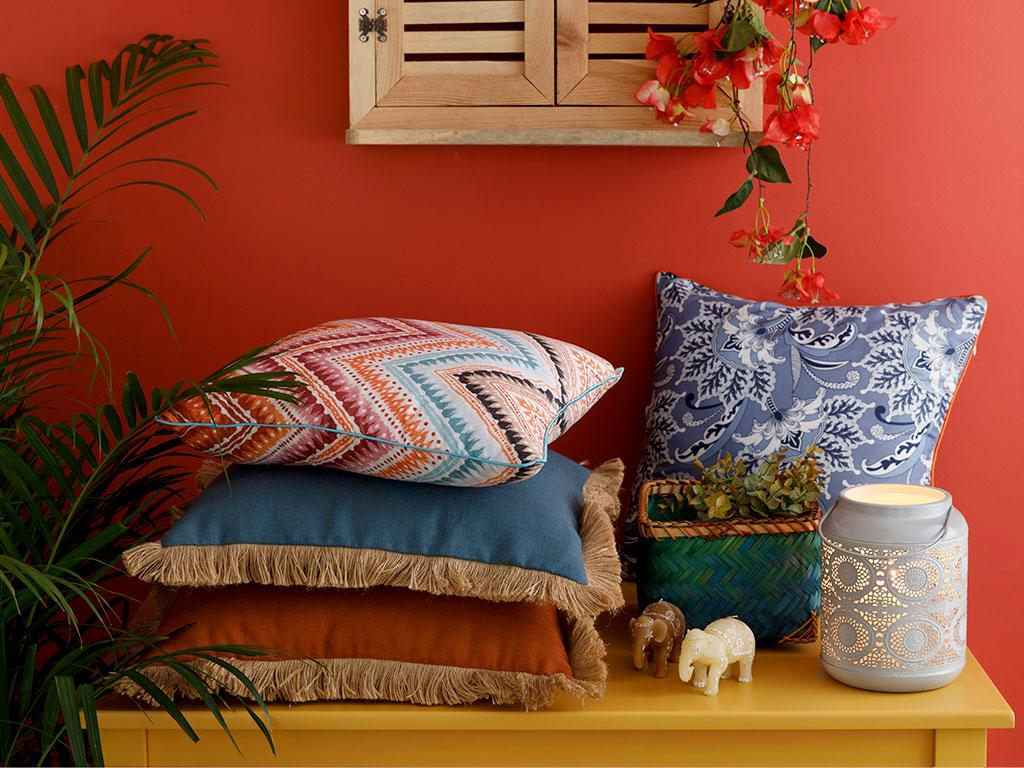 Shabby Chic Cushion Cover 45x45 Cm Orange