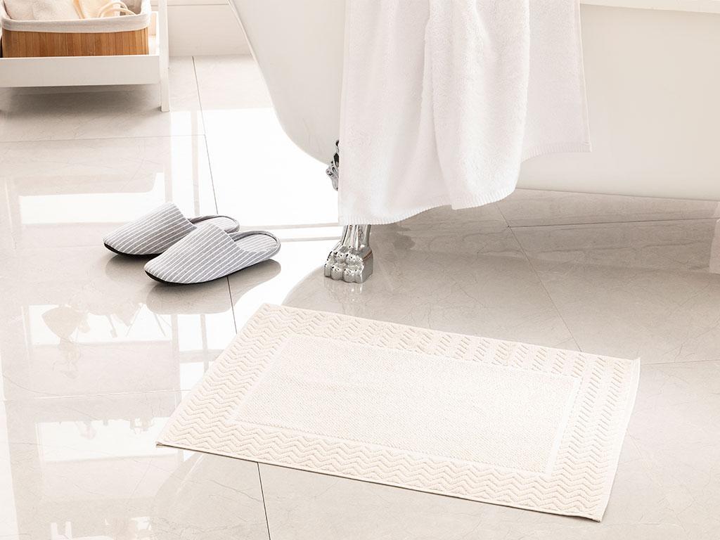 Orient Jacquard Foot Towel 50x70 Cm Light Beige