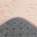 Floral Bath Mat Set 50x80 - 15x50 Cm Powder