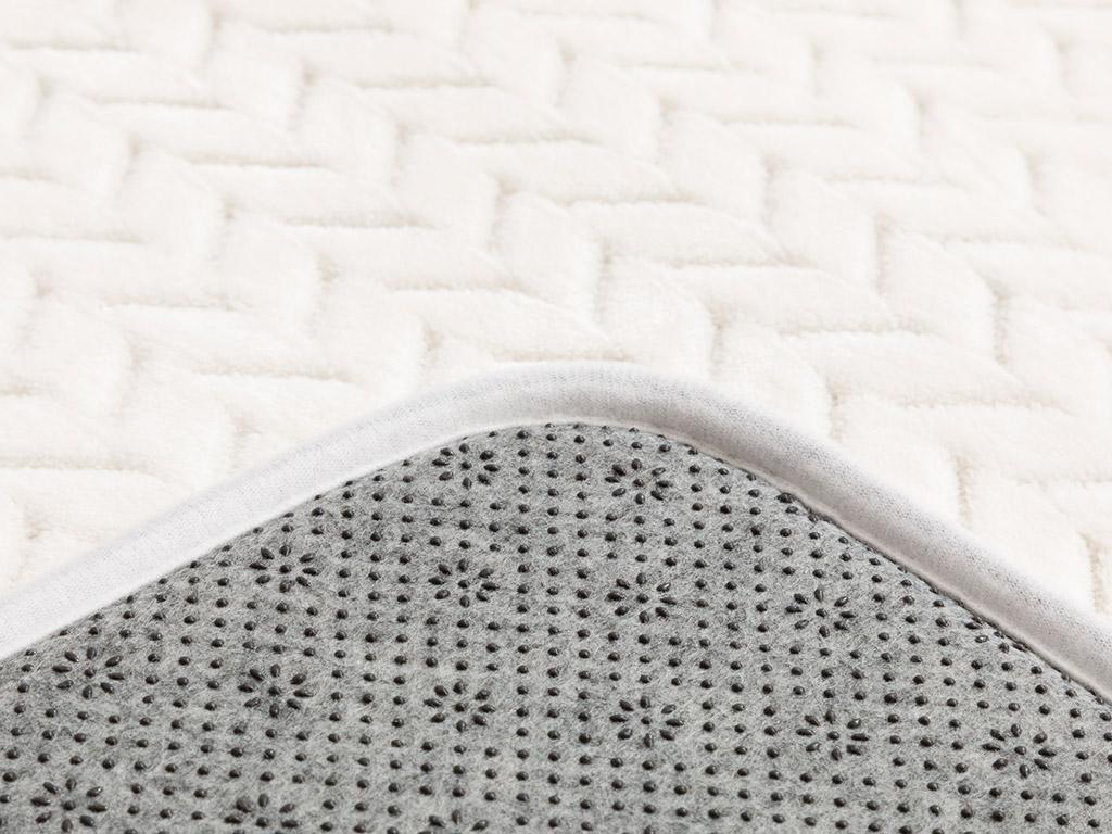 Nature Flanel Jacquard Bath Mat Set 50x80-45x50 Cm White