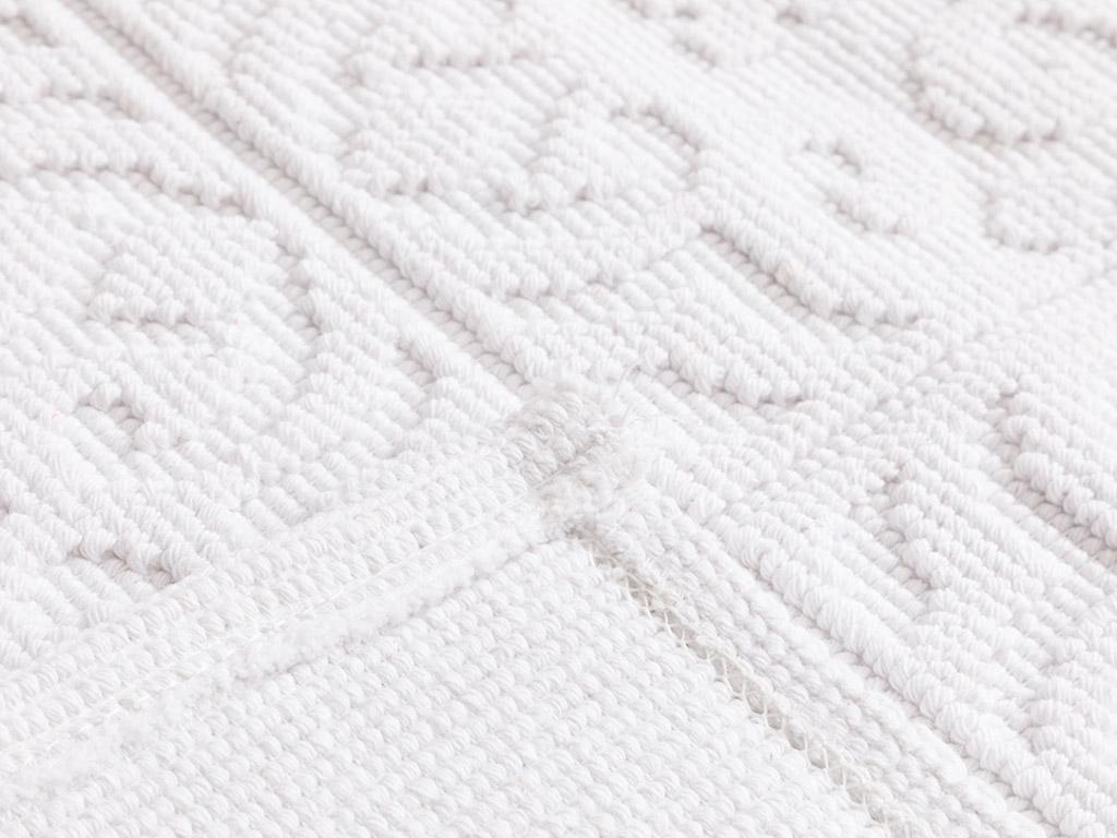 Curl Cotton Rug 50x80 Cm White