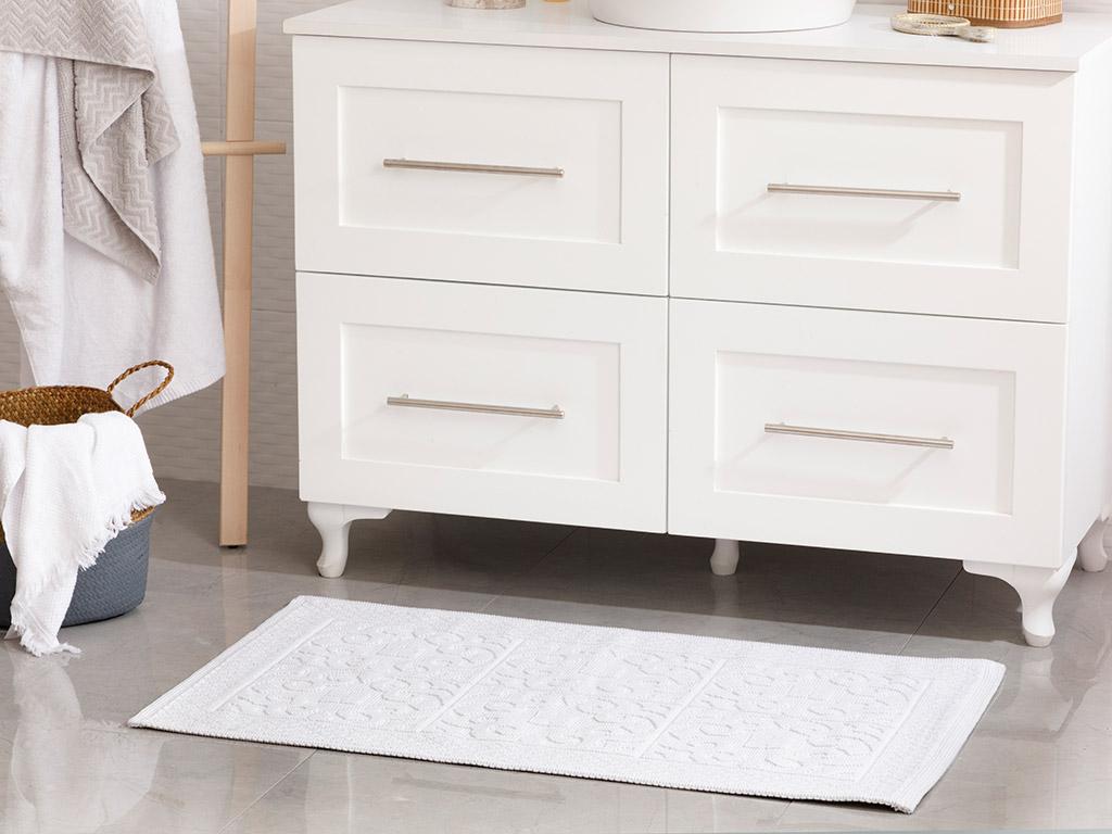 Curl Cotton Rug 60x100 Cm White
