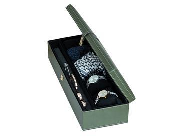 Adela Кутия за Бижута Кожа 40x14x9,5 См Зелено