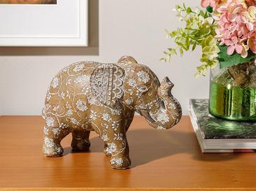 Elephant Polyresin Biblo 24x9x16,5 Cm Açık Kahve