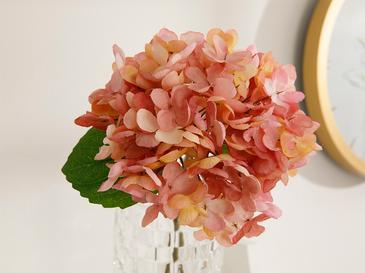 Hydrangea Изкуствено Цвете 33 См Тъмнорозово