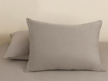 Plain Комплект Чаршафи с Ластик Двоен Размер 160x200 См Сиво
