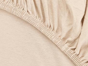 Plain Комплект Чаршафи с Ластик Единичен Размер 100x200 См Светлобежово