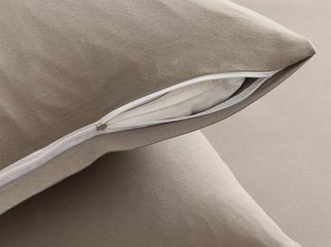 Plain Комплект Чаршафи с Ластик Единичен Размер 100x200 См Сиво