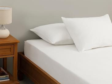 Plain Комплект Чаршафи с Ластик King Size 180x200 См Бяло