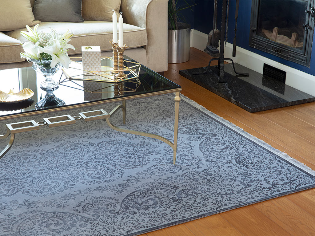 Velvet Classic Carpet 160x230 Cm Gray