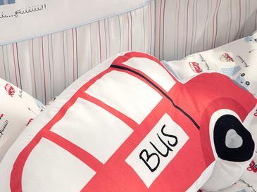 Mini Bus Декоративна Възглавничка 41x26 См Червено