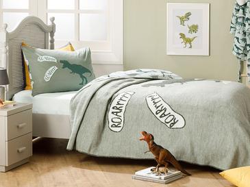 Dinosaur Детско Одеяло 150x200 См Зелено