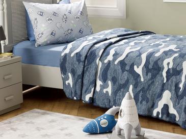 Camouflage Детско Одеяло 150x200 См Синьо