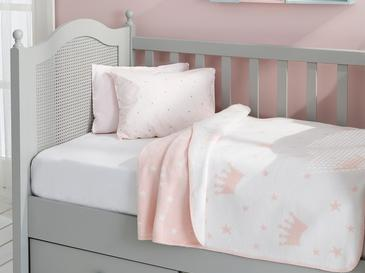 Mini Crown Бебешко Одеяло 100x120 См Розово
