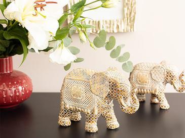 Elephant's Trunk Декоративен Предмет 20x8,5x14,5 См Кафяво