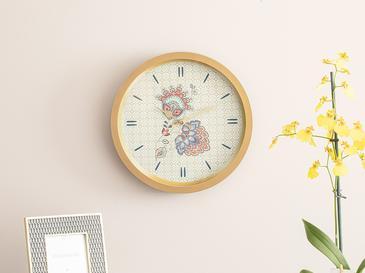 Paisley Flower Стенен Часовник 30 См Златисто