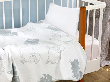 Little Lamb Бебешко Одеяло 100x120 См Сиво